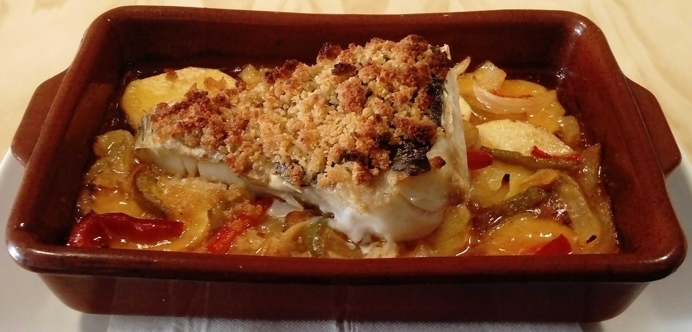 pescado al horno menu mazaroca
